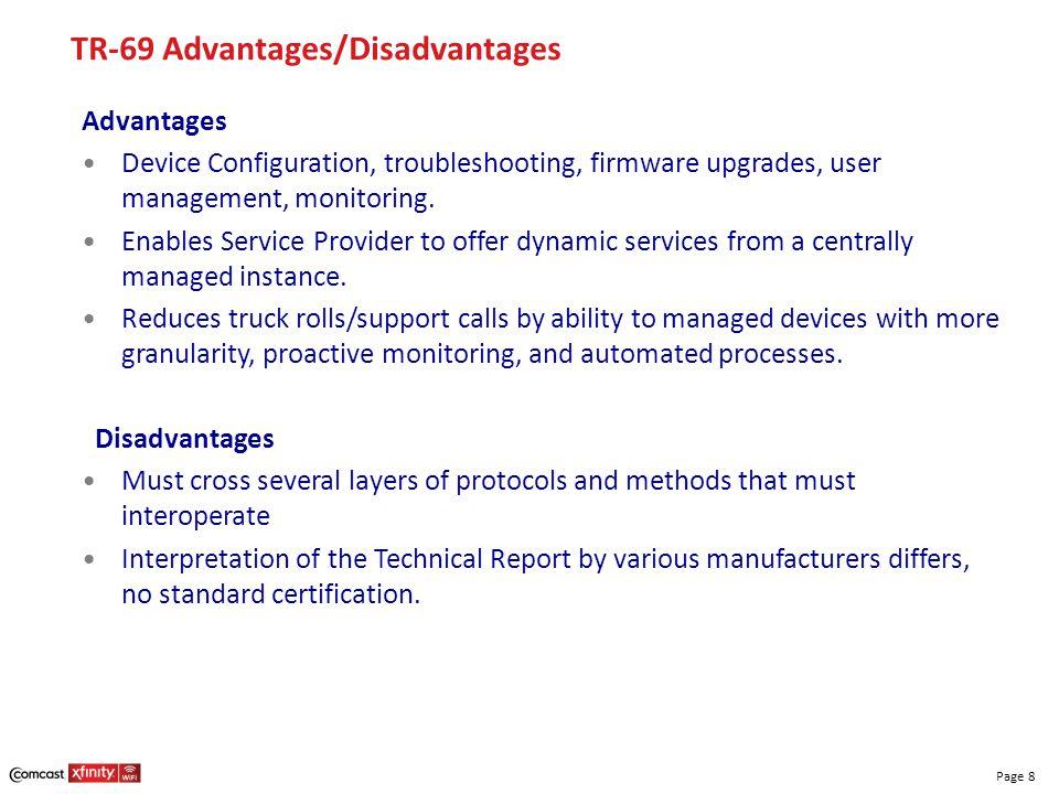 TR-69 Advantages/Disadvantages