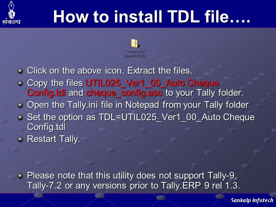 How to install TDL file….