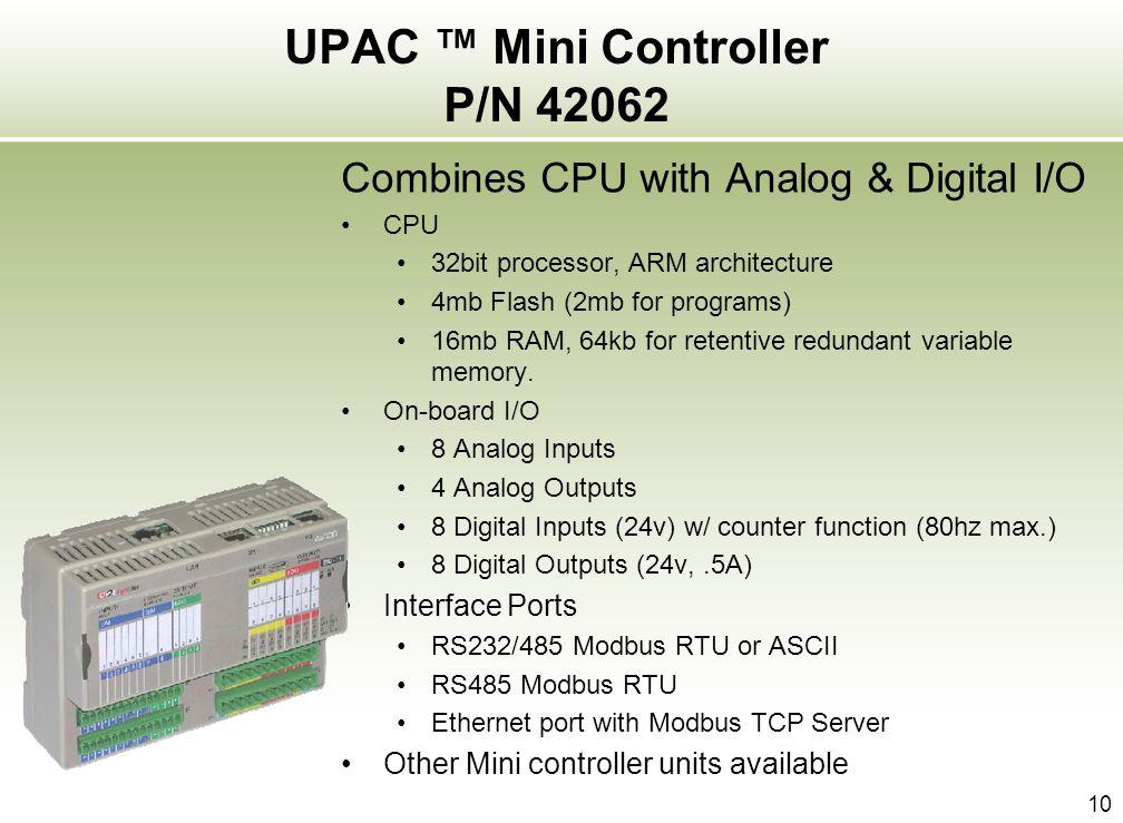 UPAC ™ Mini Controller P/N 42062