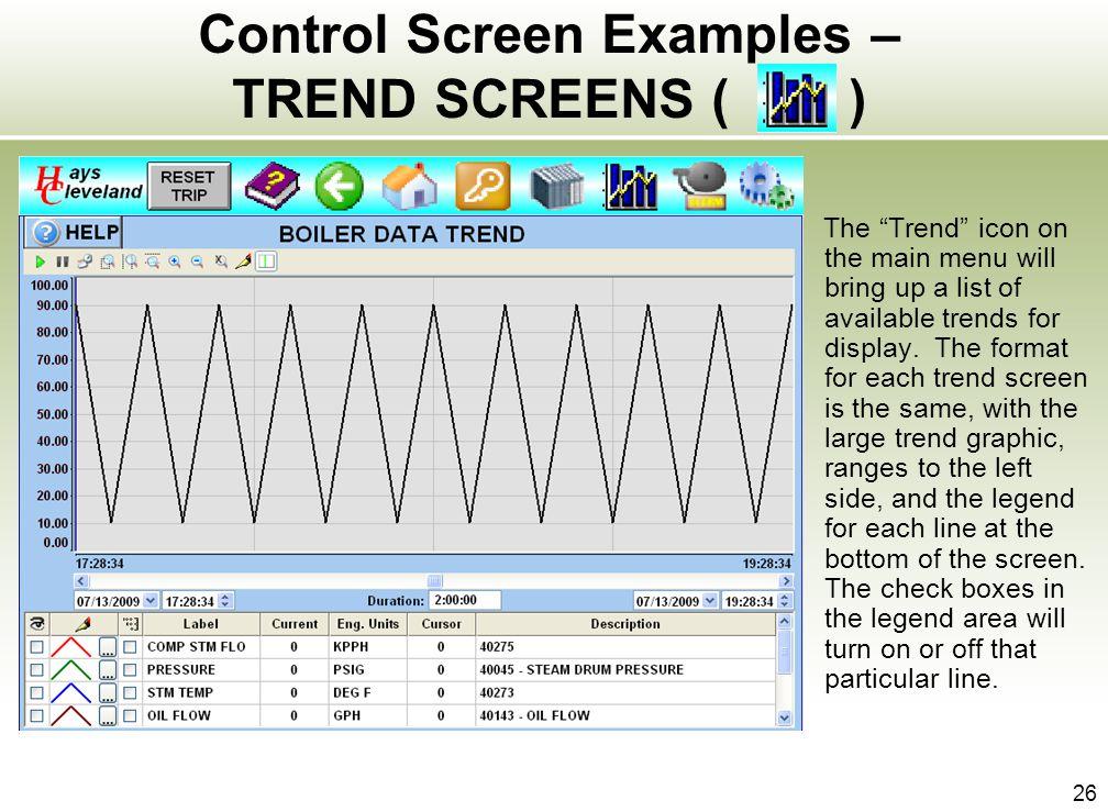Control Screen Examples – TREND SCREENS ( )