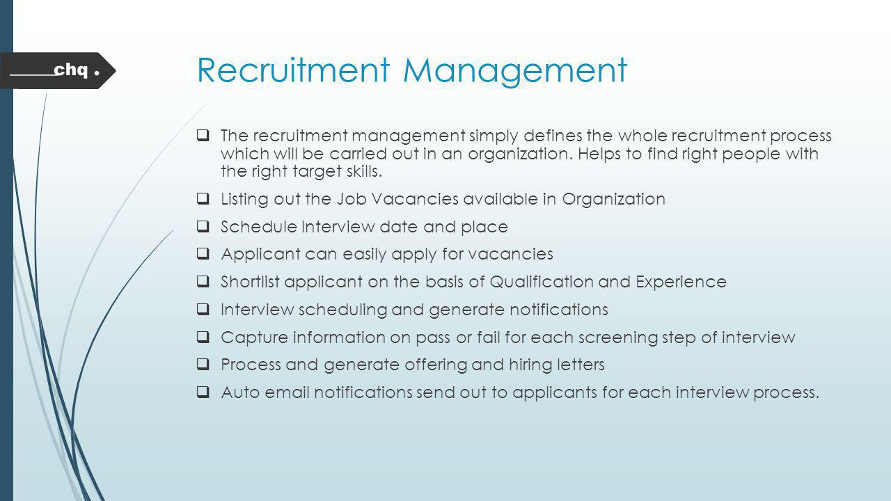 Recruitment Management