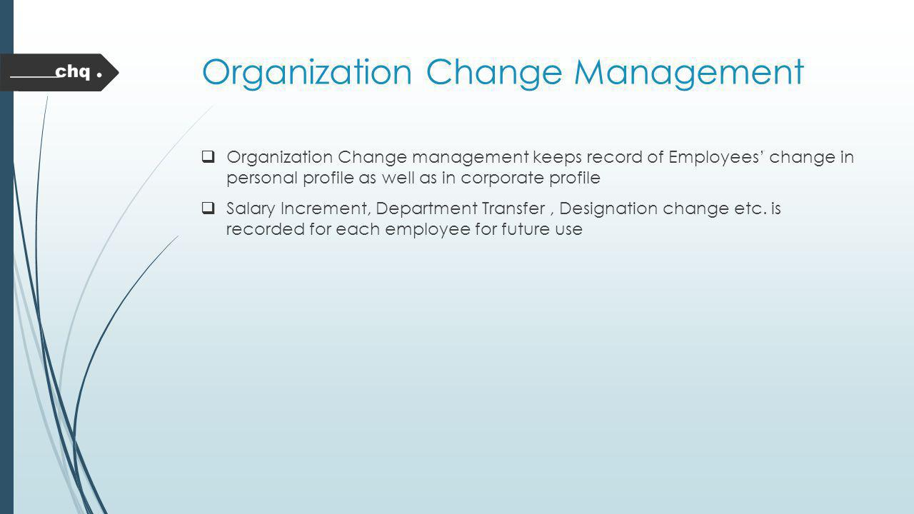 Organization Change Management