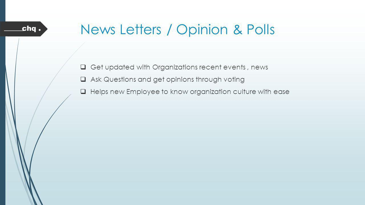 News Letters / Opinion & Polls