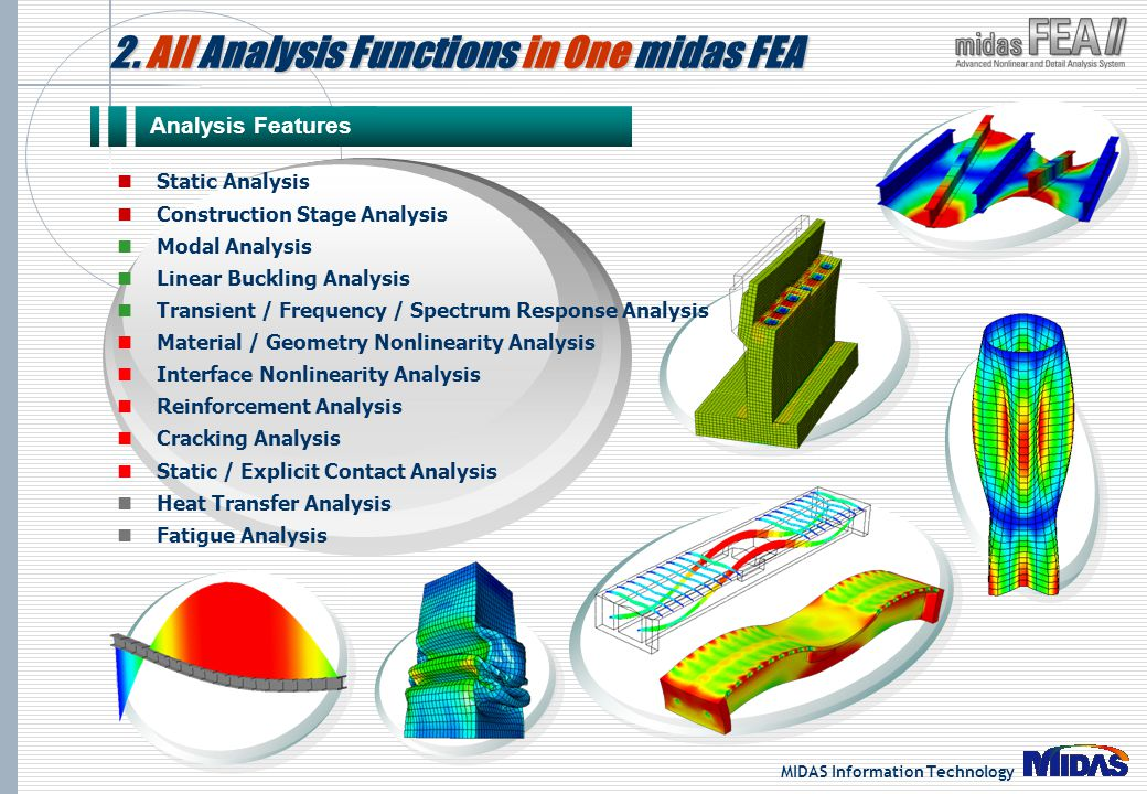 2. All Analysis Functions in One midas FEA