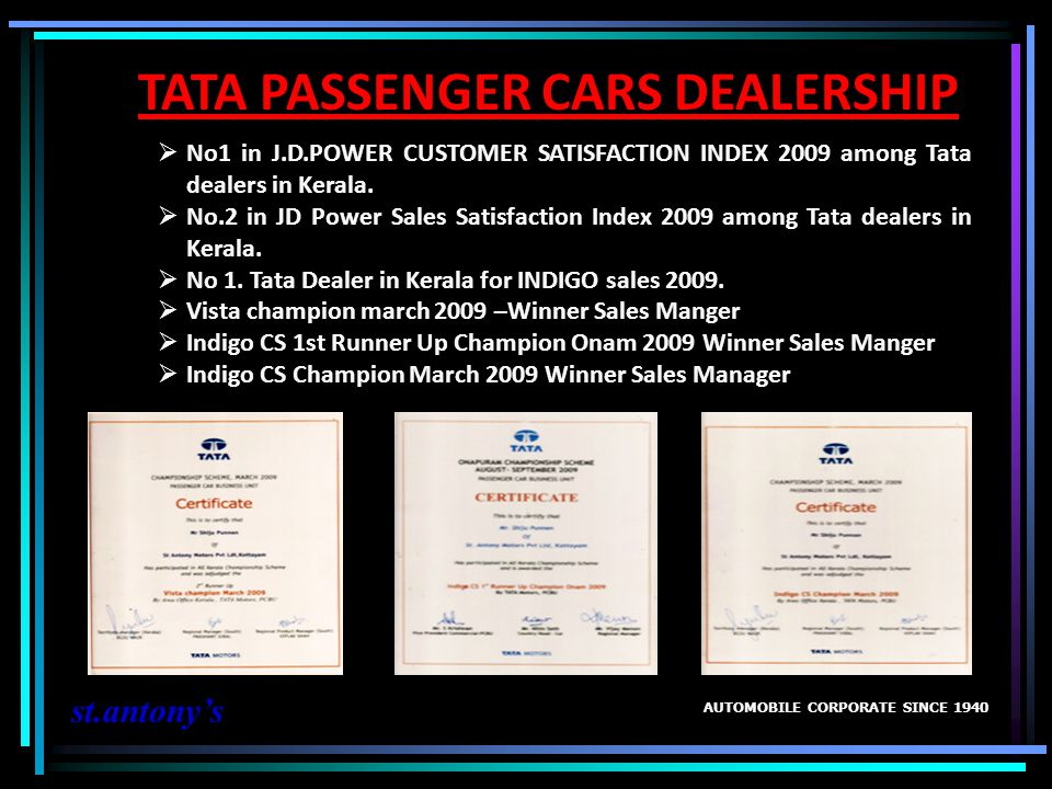 TATA PASSENGER CARS DEALERSHIP