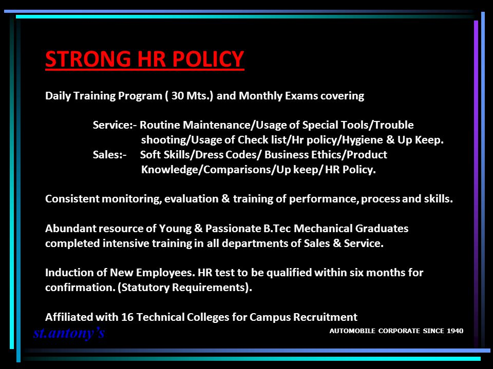STRONG HR POLICY Daily Training Program ( 30 Mts