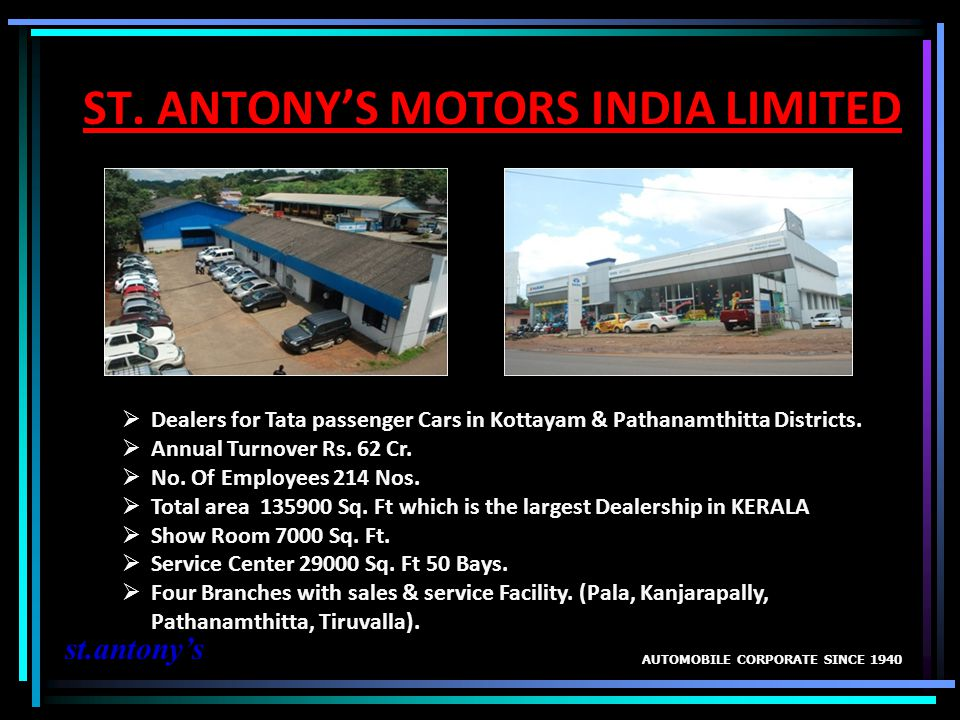 ST. ANTONY'S MOTORS INDIA LIMITED