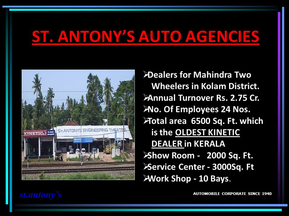ST. ANTONY'S AUTO AGENCIES