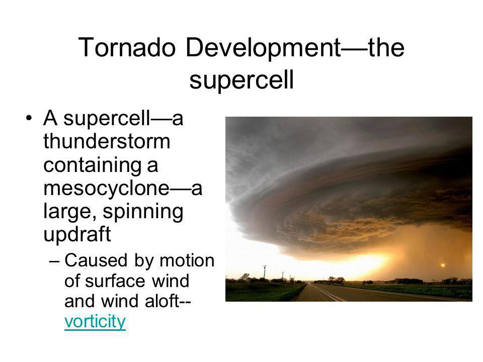 Tornado Development—the supercell
