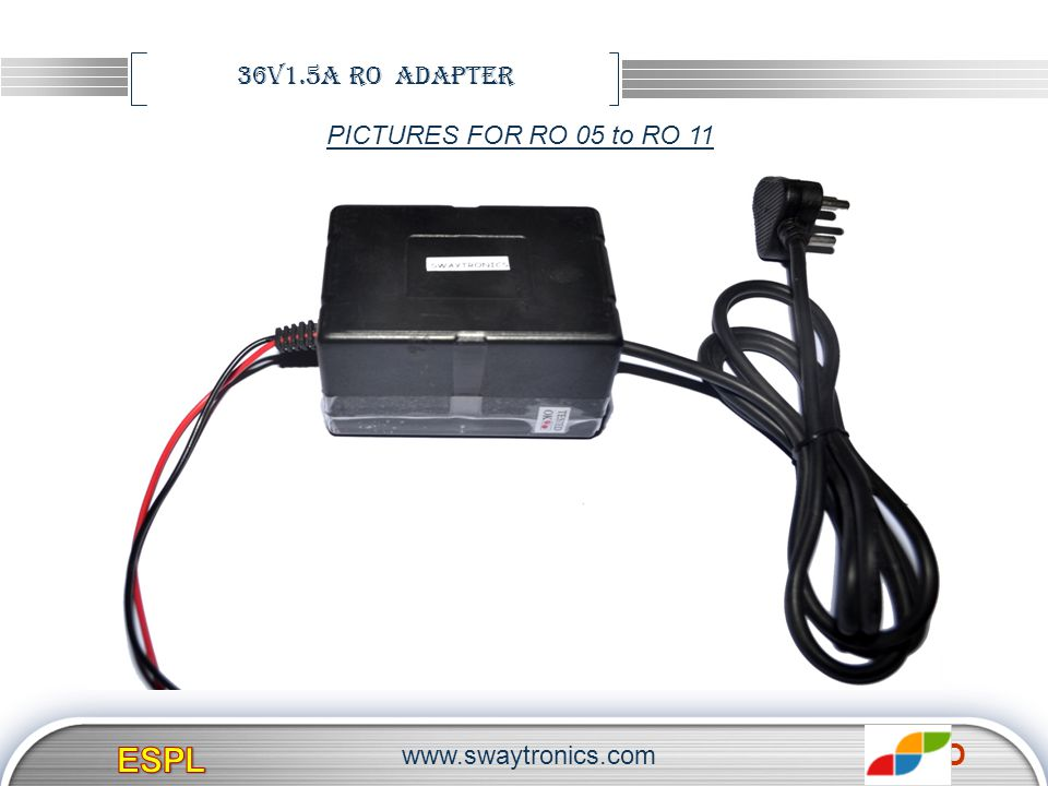 ESPL 36V1.5A RO adapter PICTURES FOR RO 05 to RO 11
