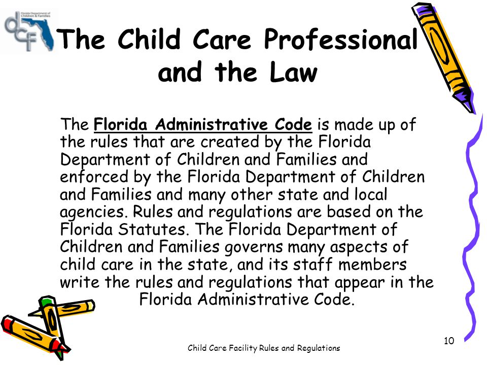 The Child Care Professional and the Law