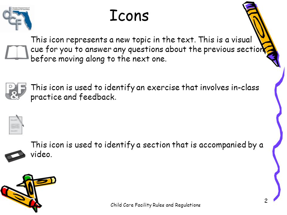 Icons This icon represents a new topic in the text. This is a visual