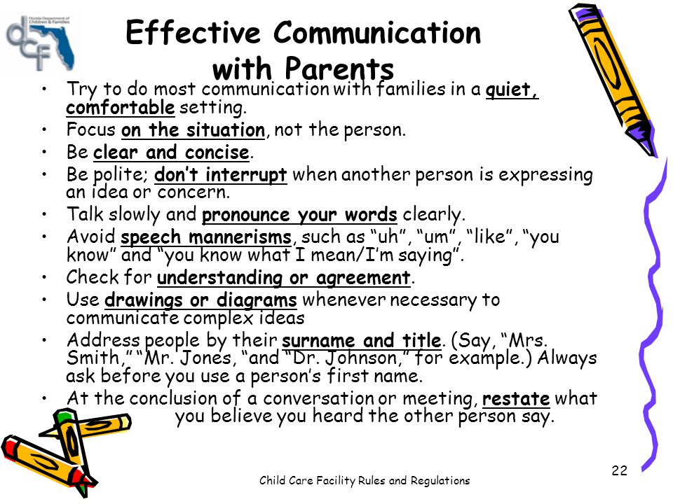 Effective Communication with Parents