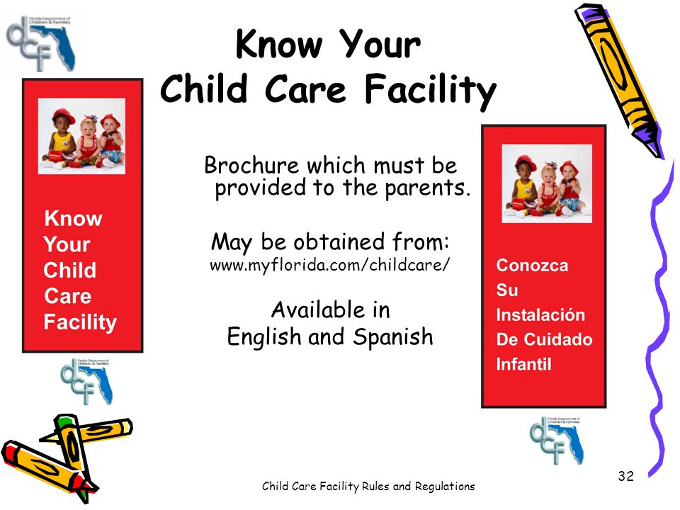 Know Your Child Care Facility