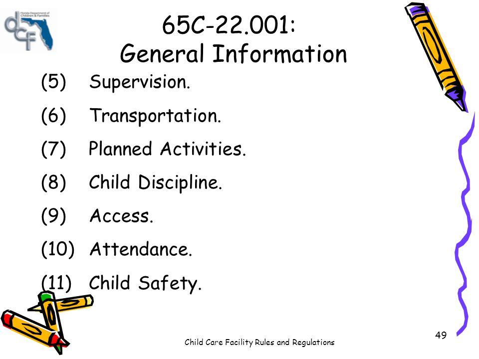 65C-22.001: General Information
