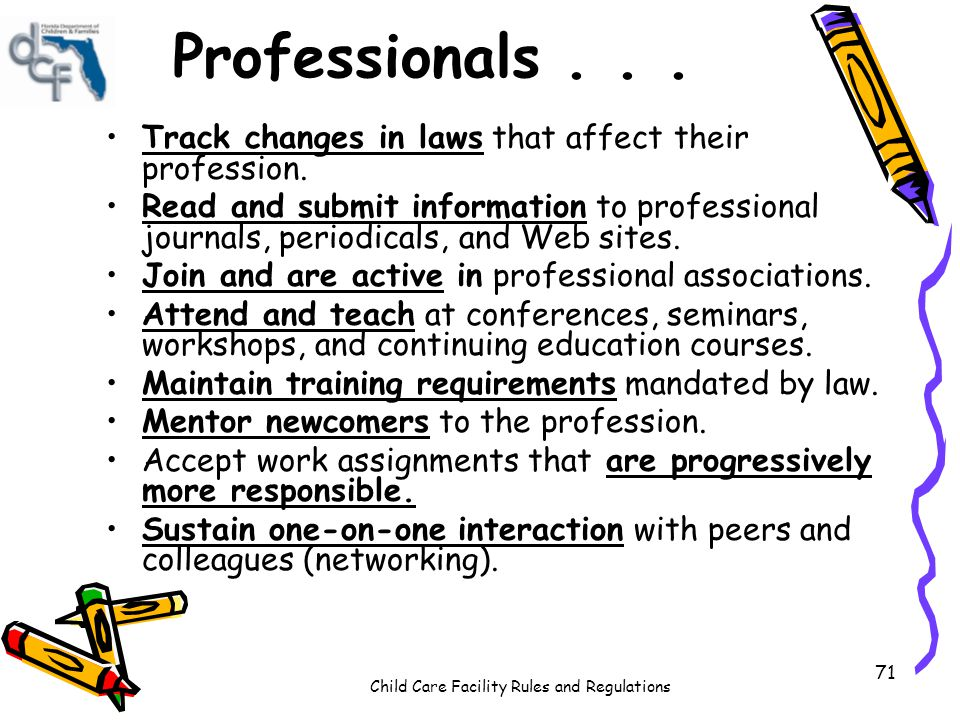 Professionals . . . Track changes in laws that affect their profession.