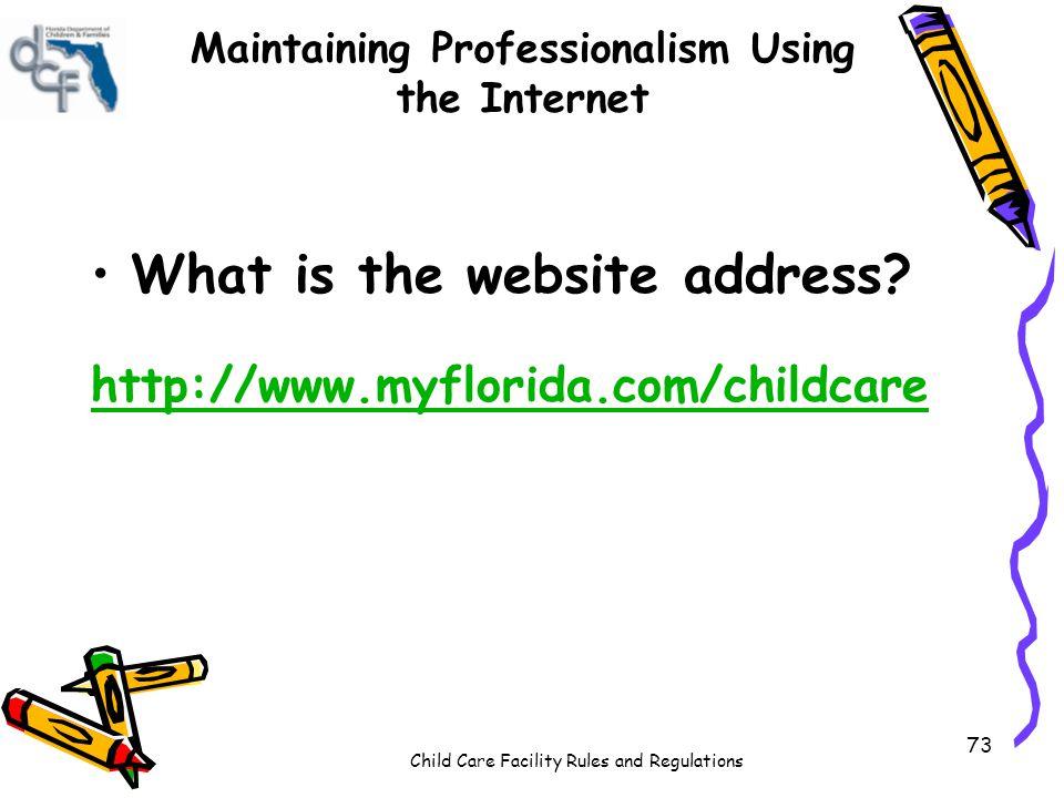 Maintaining Professionalism Using the Internet
