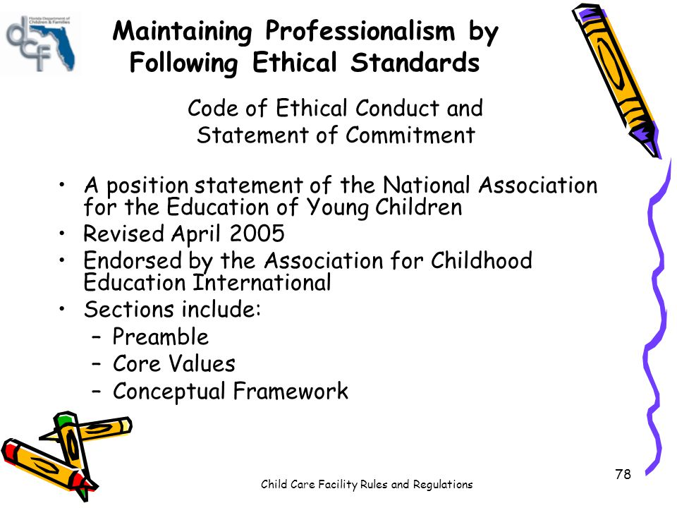Maintaining Professionalism by Following Ethical Standards