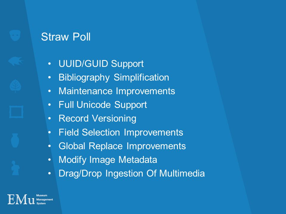 Straw Poll UUID/GUID Support Bibliography Simplification