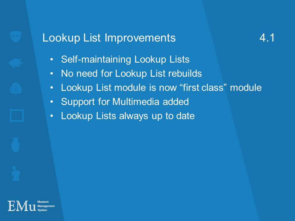 Lookup List Improvements 4.1
