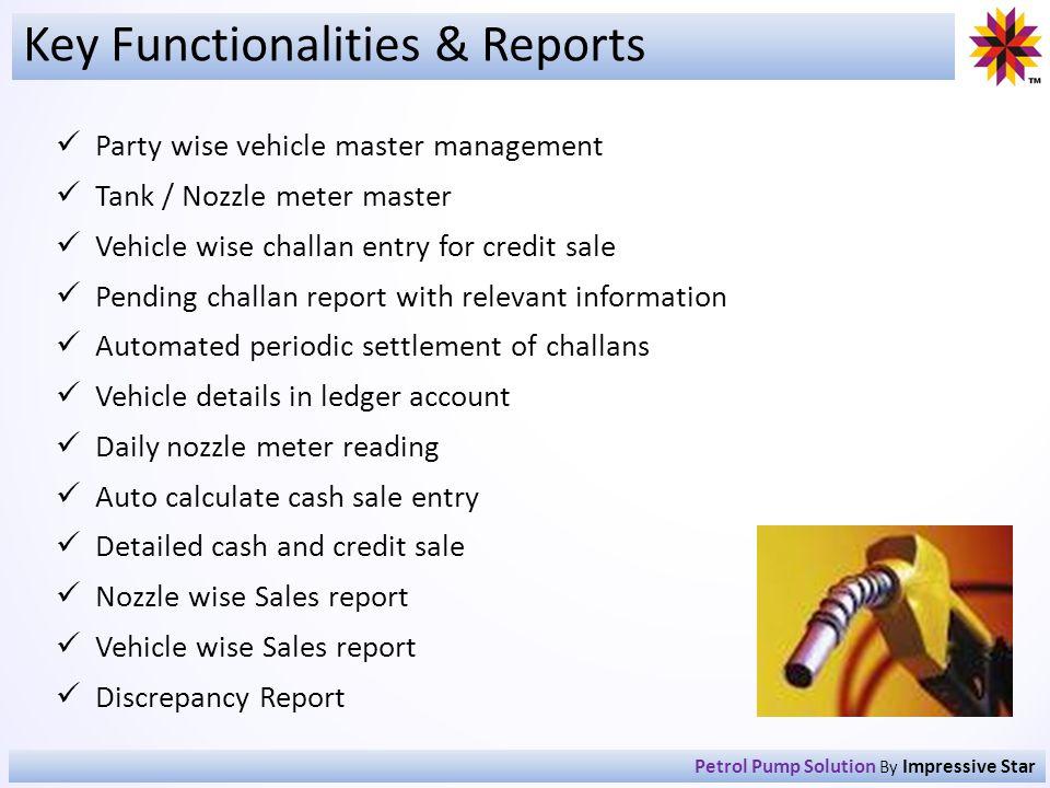 Key Functionalities & Reports