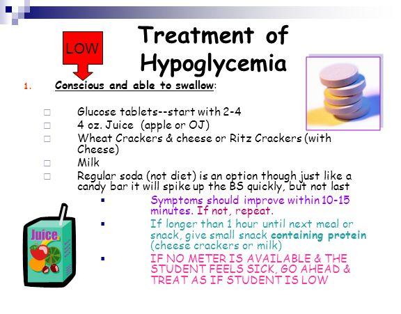 Treatment of Hypoglycemia
