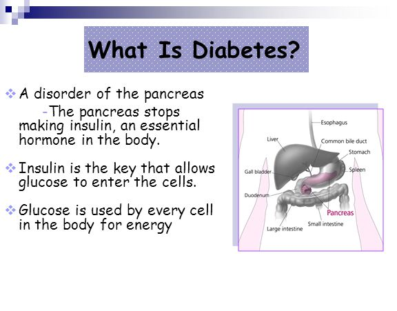 What Is Diabetes A disorder of the pancreas