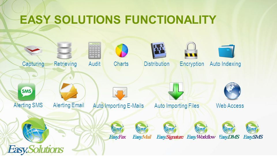 EASY SOLUTIONS FUNCTIONALITY