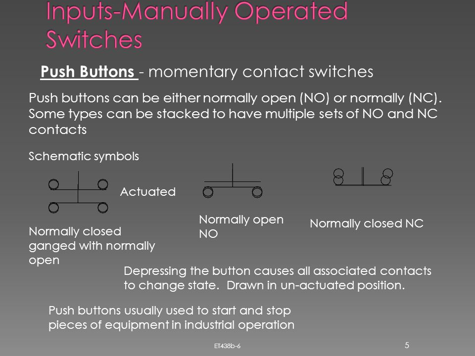 Inputs-Manually Operated Switches