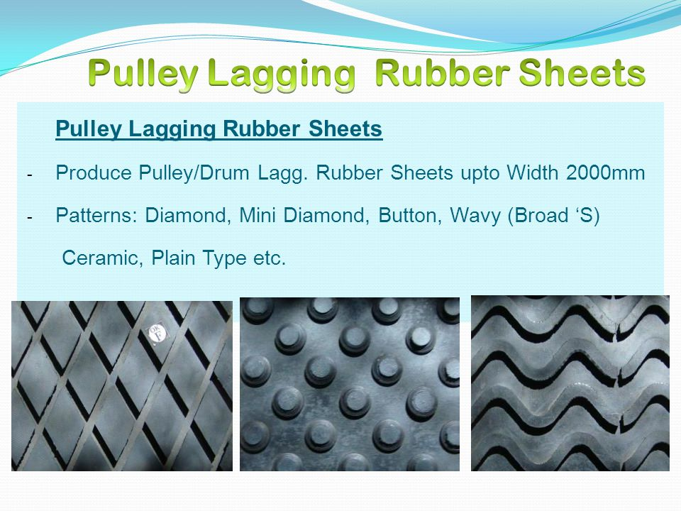 Pulley Lagging Rubber Sheets