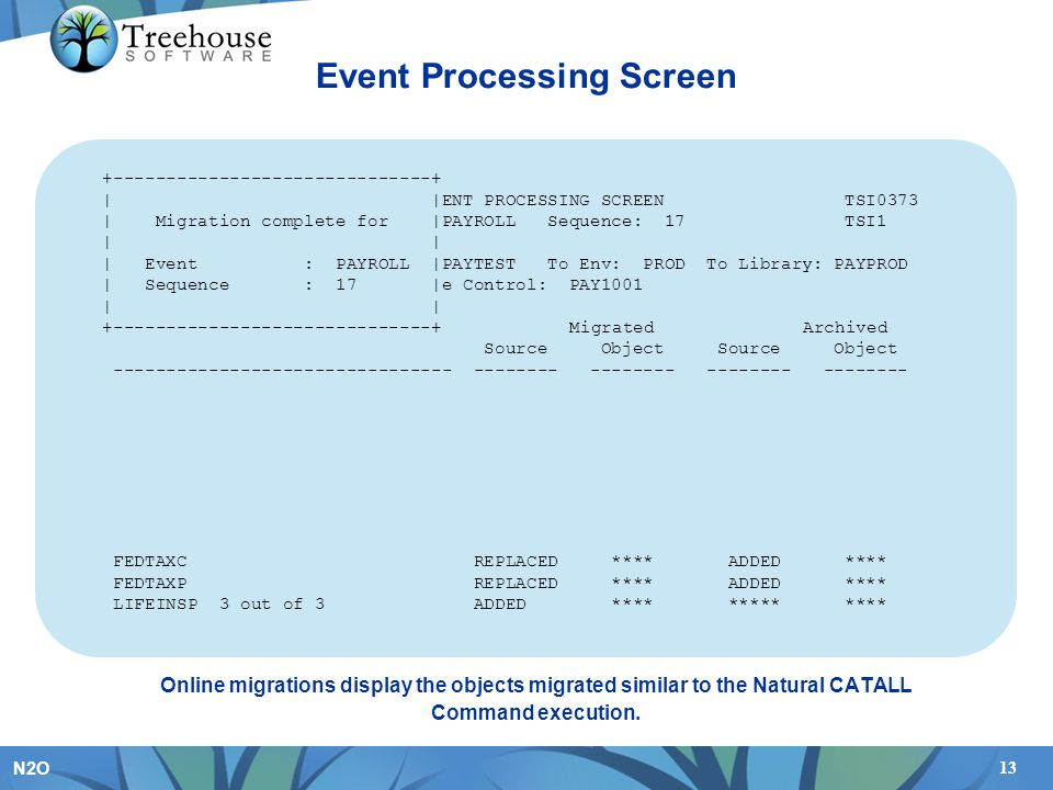 Event Processing Screen