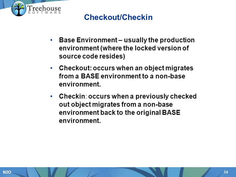The Checkout/Checkin feature is a really powerful way to protect your development work. It can ensure that one programmer does not overlay the work of another, and that one programmer knows if another is modifying the same program. It can stop many of development accidents from occurring.