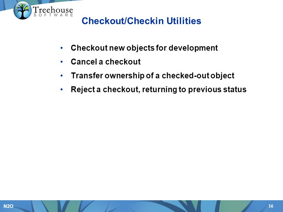 Checkout/Checkin Utilities