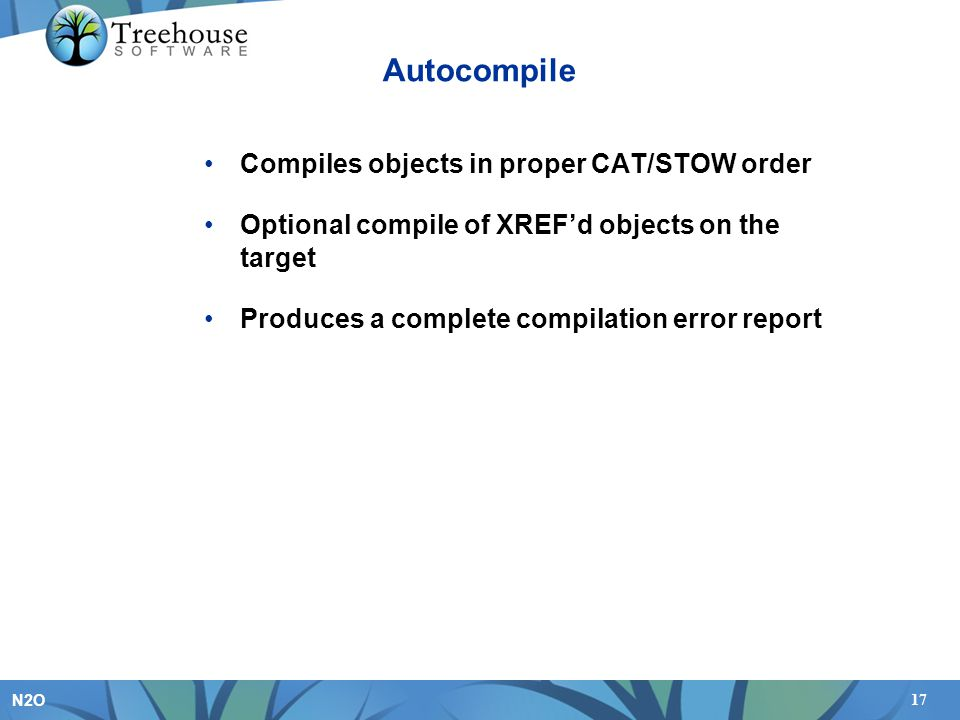 Autocompile Compiles objects in proper CAT/STOW order