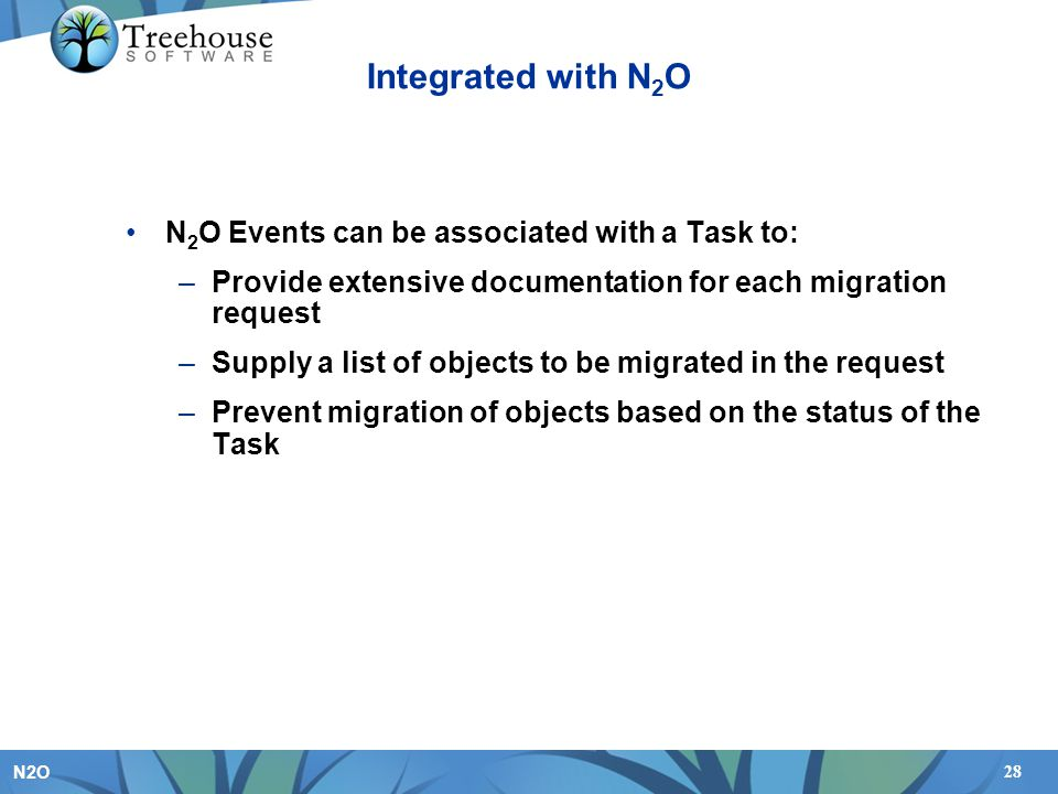 Integrated with N2O N2O Events can be associated with a Task to: