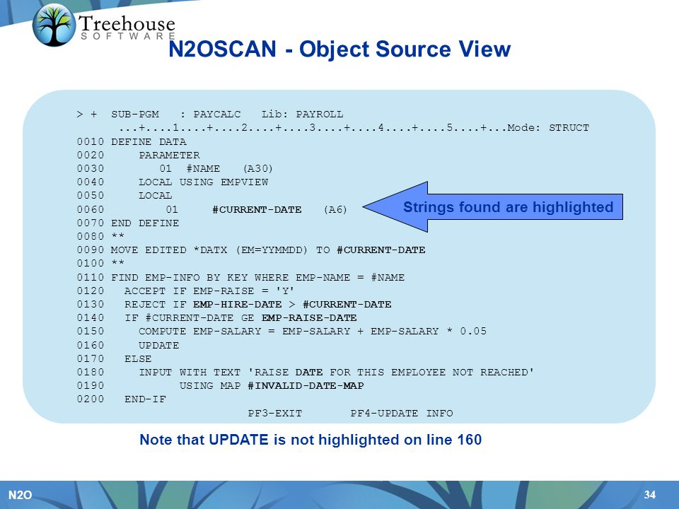 N2OSCAN - Object Source View