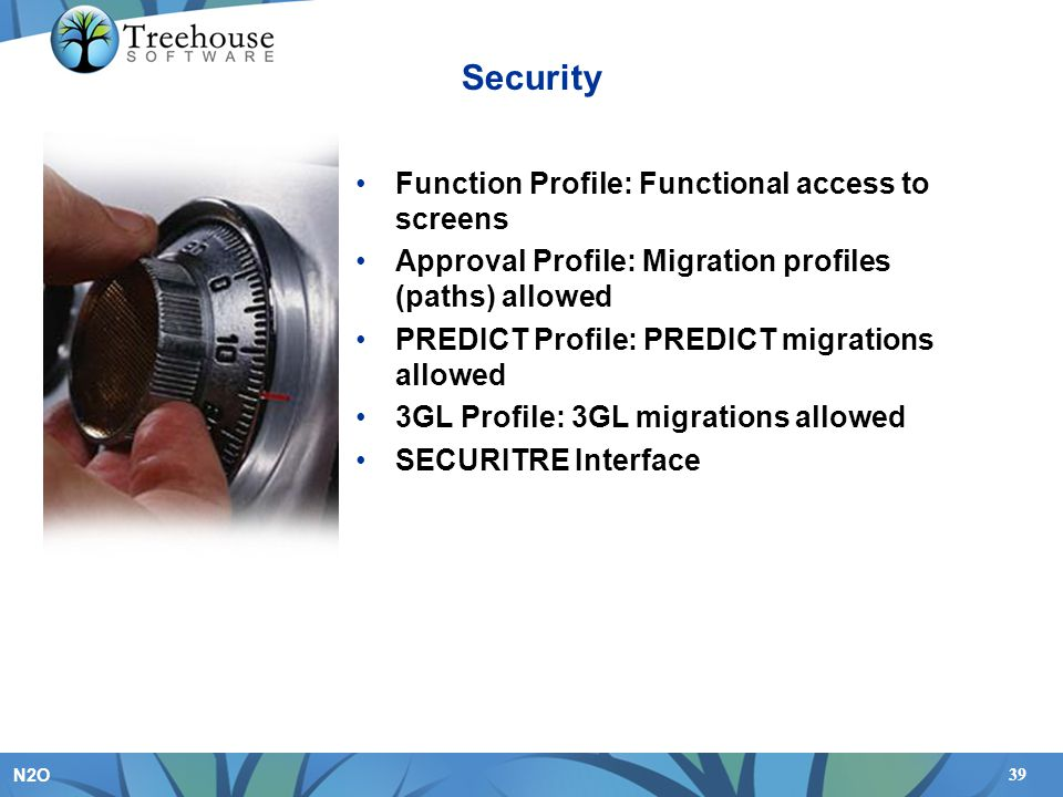 Security Function Profile: Functional access to screens
