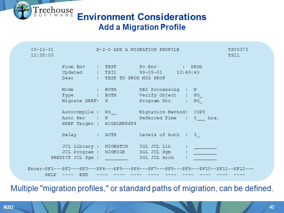 Environment Considerations Add a Migration Profile