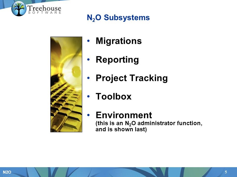 Environment (this is an N2O administrator function, and is shown last)