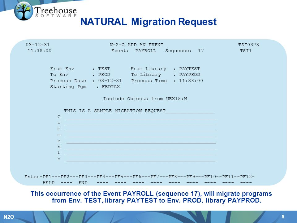 NATURAL Migration Request