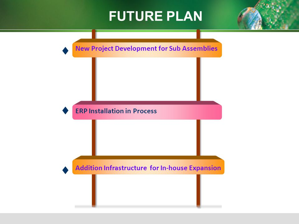 FUTURE PLAN  New Project Development for Sub Assemblies