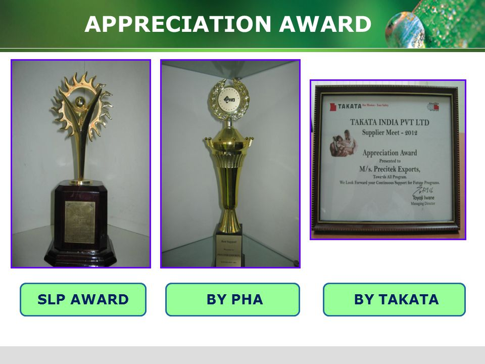 APPRECIATION AWARD SLP AWARD BY PHA BY TAKATA