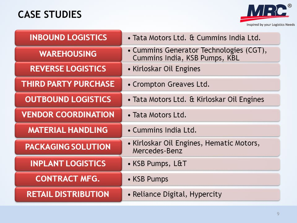 logistics case study india The study is based on in-depth research on the trends, at kearney's experience in helping organizations transform their supply chain, and multiple conversations with supply chain leaders in india.