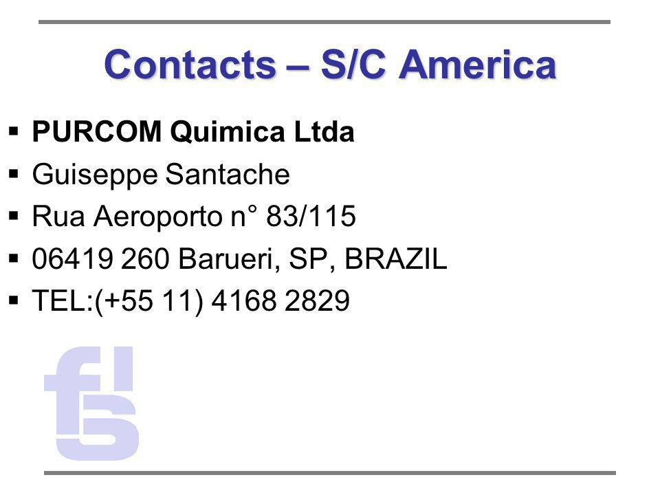 Contacts – S/C America PURCOM Quimica Ltda Guiseppe Santache