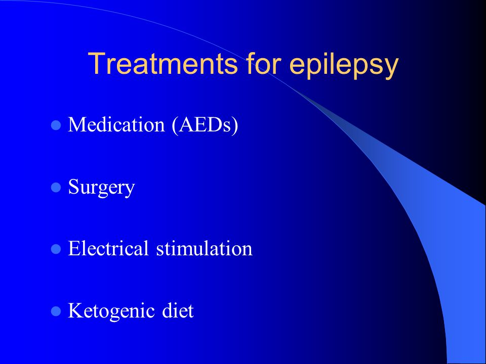Treatments for epilepsy