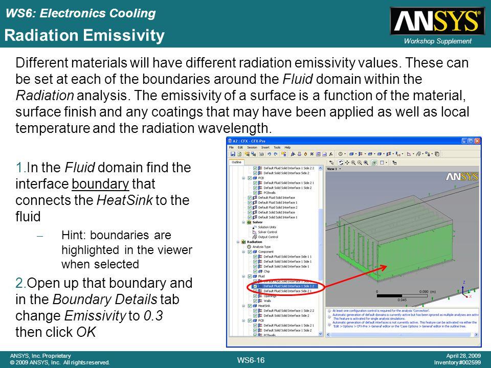 Radiation Emissivity