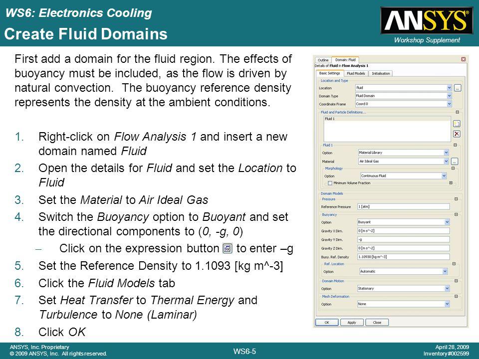 Create Fluid Domains