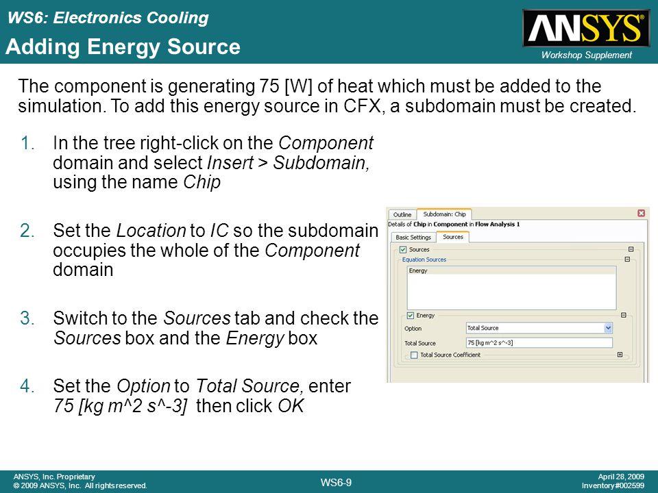 Adding Energy Source