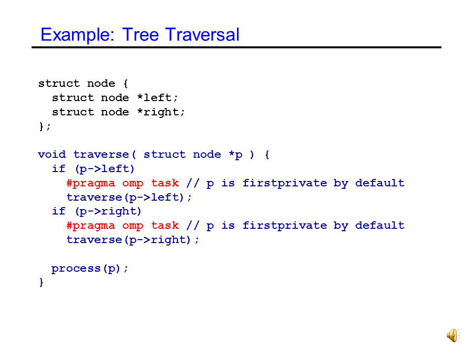 Example: Tree Traversal