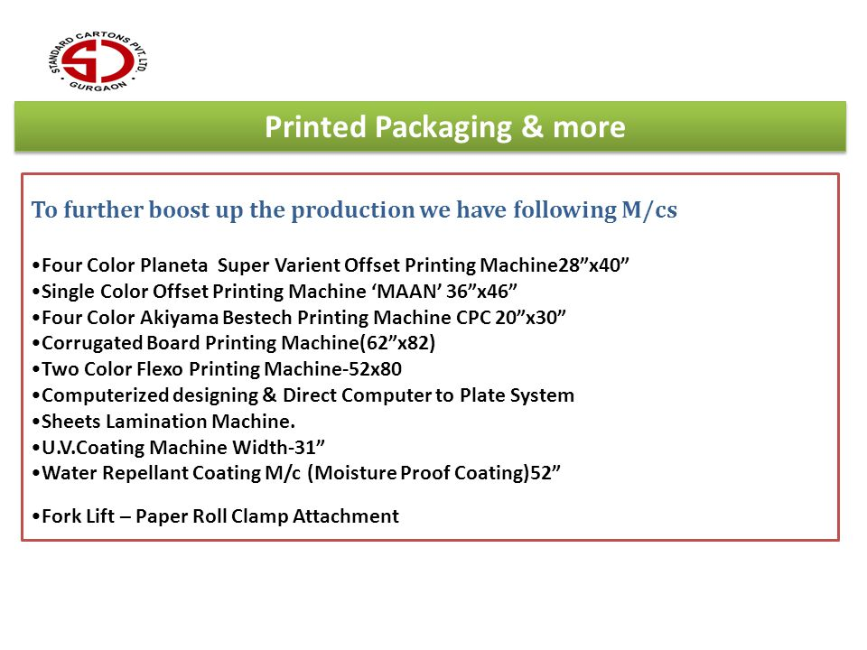 Printed Packaging & more